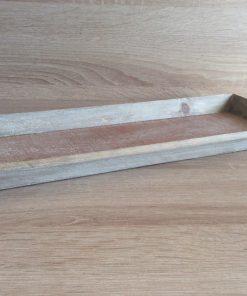 Holz-Tablett 39x15x2,5cm, grau UK 30 EAN-Nr. 4039112102285
