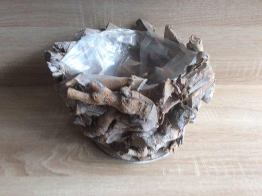 rundes Pflanzgefäß aus Naturholz mit Folie, 26 x 16cm EAN 4251123310873