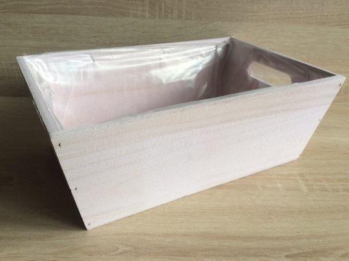 Holzkiste mit Folie, 32x21x12h cm, rechteckig, pastell-flieder, EAN 4251123308436
