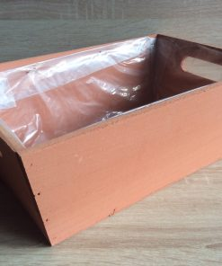 Holzkiste mit Folie, 32x21x12h cm, rechteckig, hellbraun, EAN 4251123308498