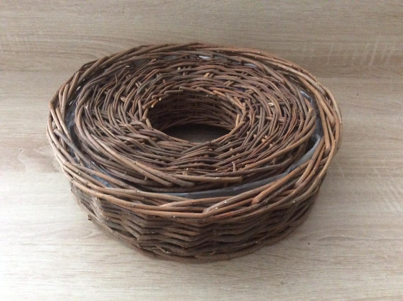 Holz Pflanz-Ringe 2er Set Pflanzring Pflanzkorb Pflanzenkorb